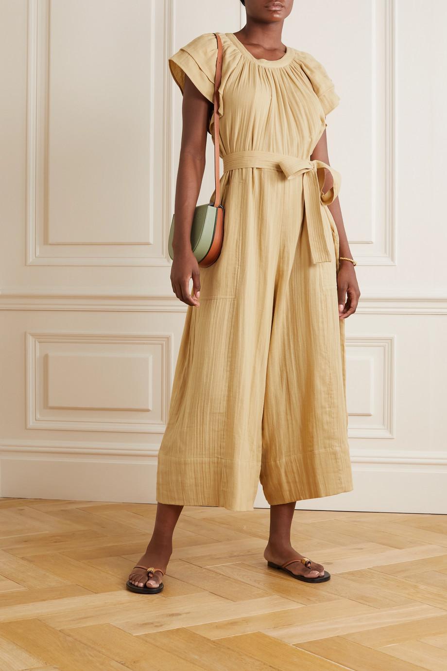 Hannah Artwear + NET SUSTAIN Clare belted cotton-gauze jumpsuit