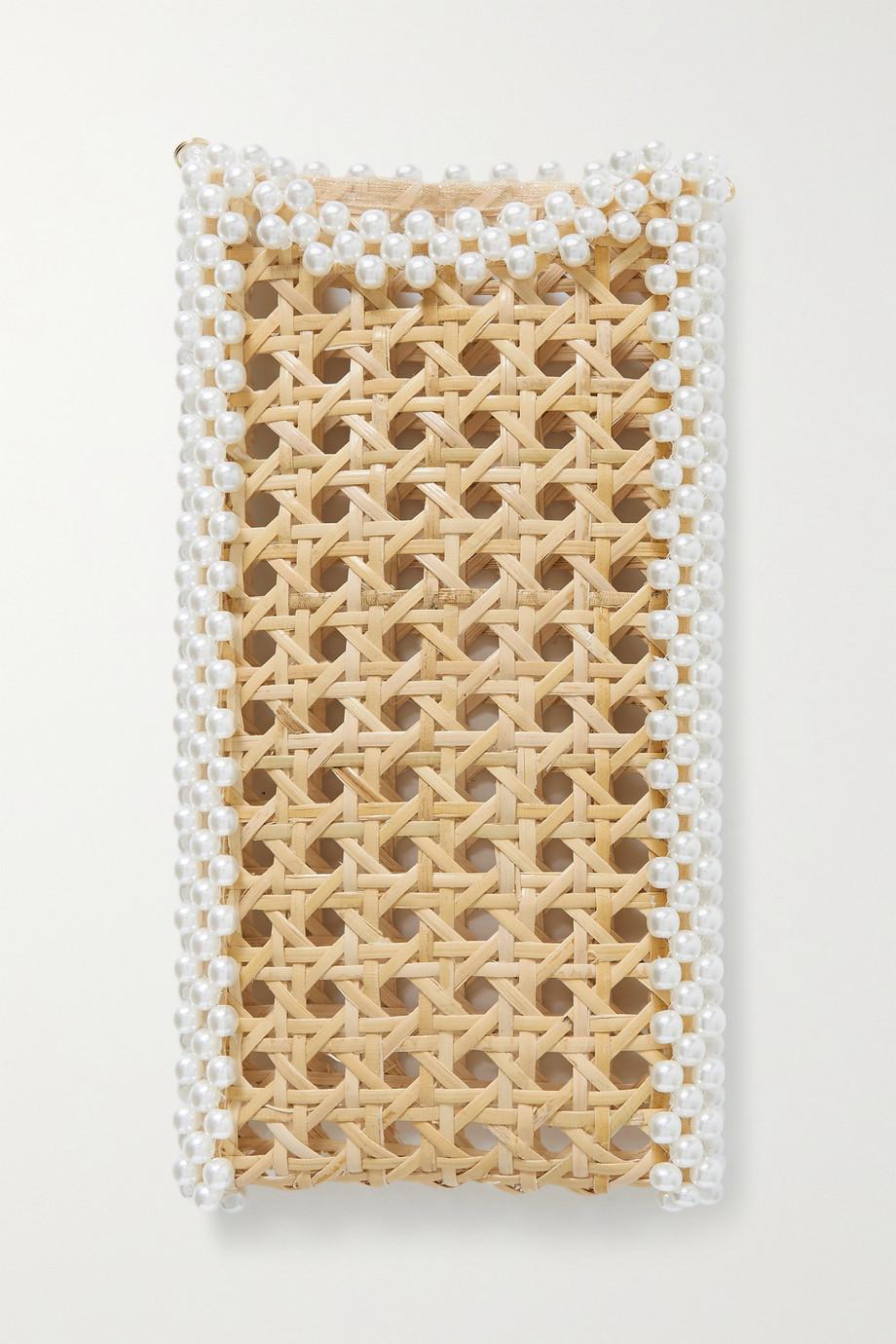 Rosantica Étui pour iPhone 12 en osier à perles synthétiques Cinderella Oasis