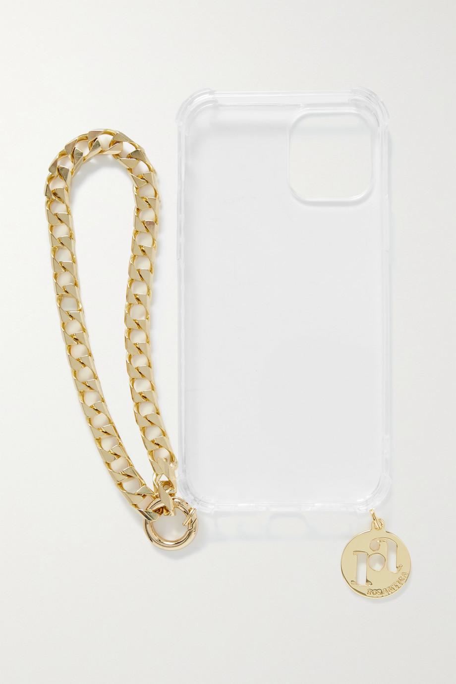 Rosantica Coque pour iPhone 12 en Perspex et en métal doré Gas Gas