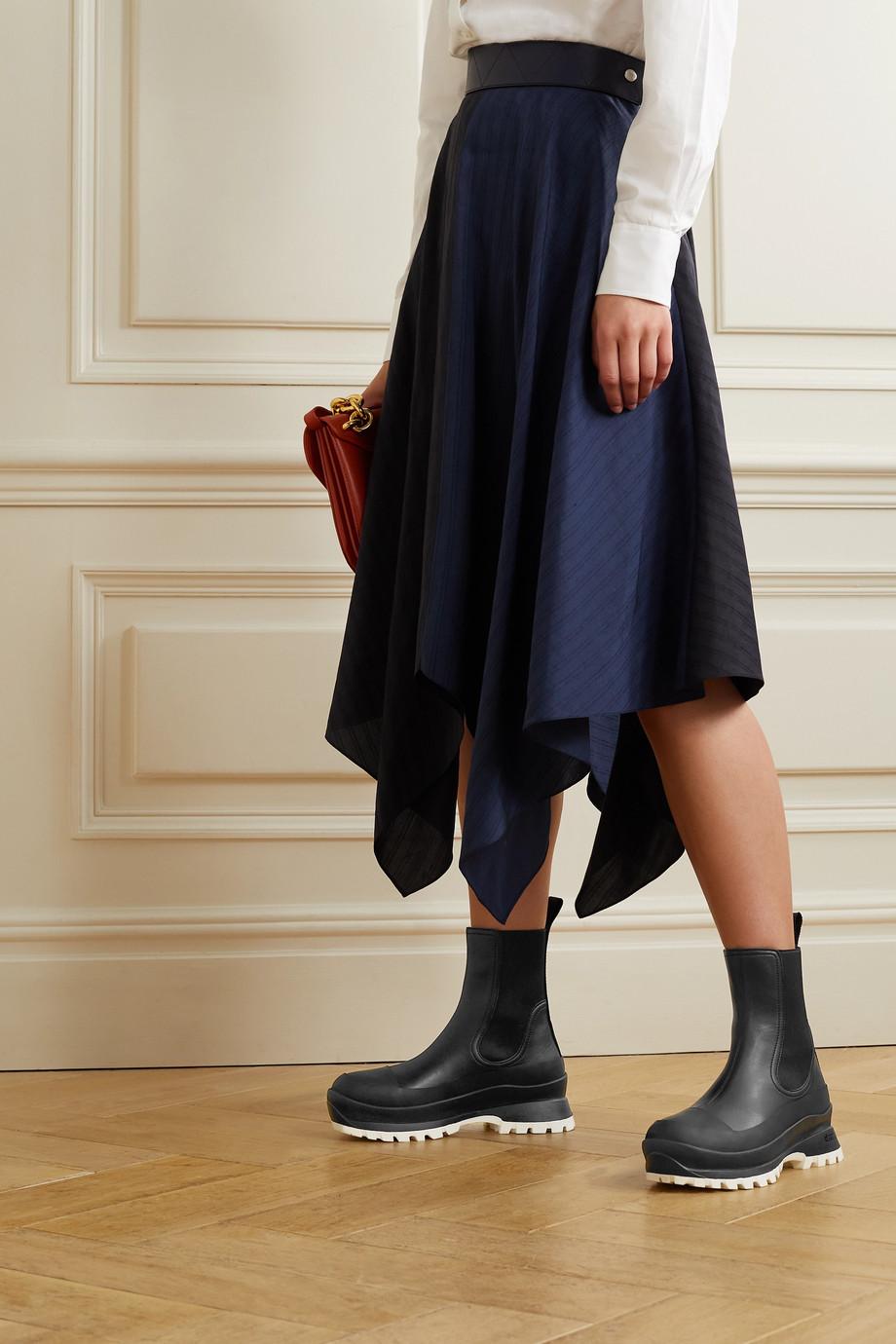 Stella McCartney Trace Chelsea Boots aus Kunstleder mit Logo