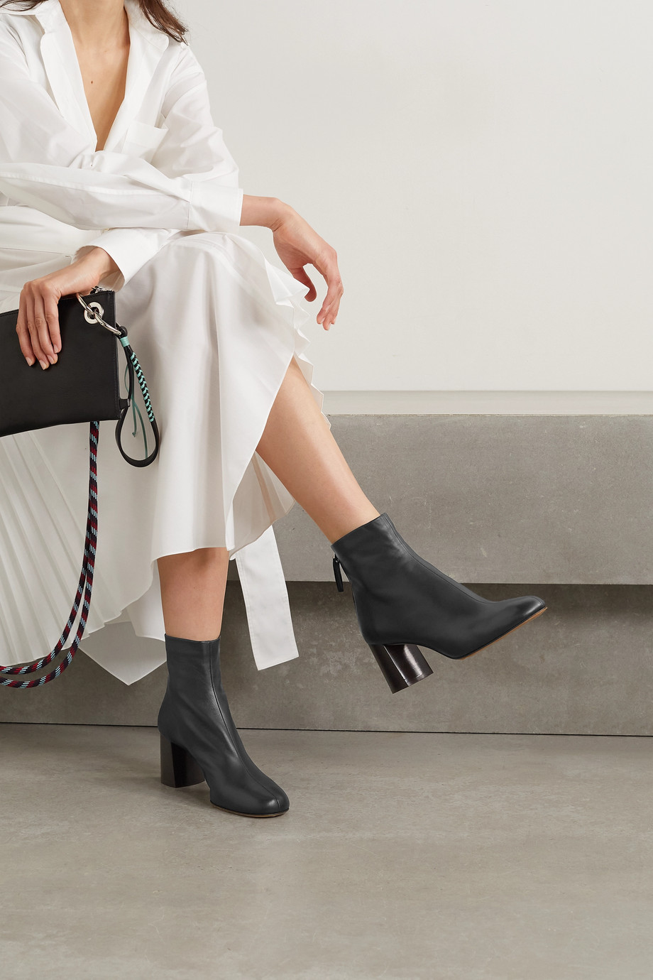 3.1 Phillip Lim Nadia leather ankle boots