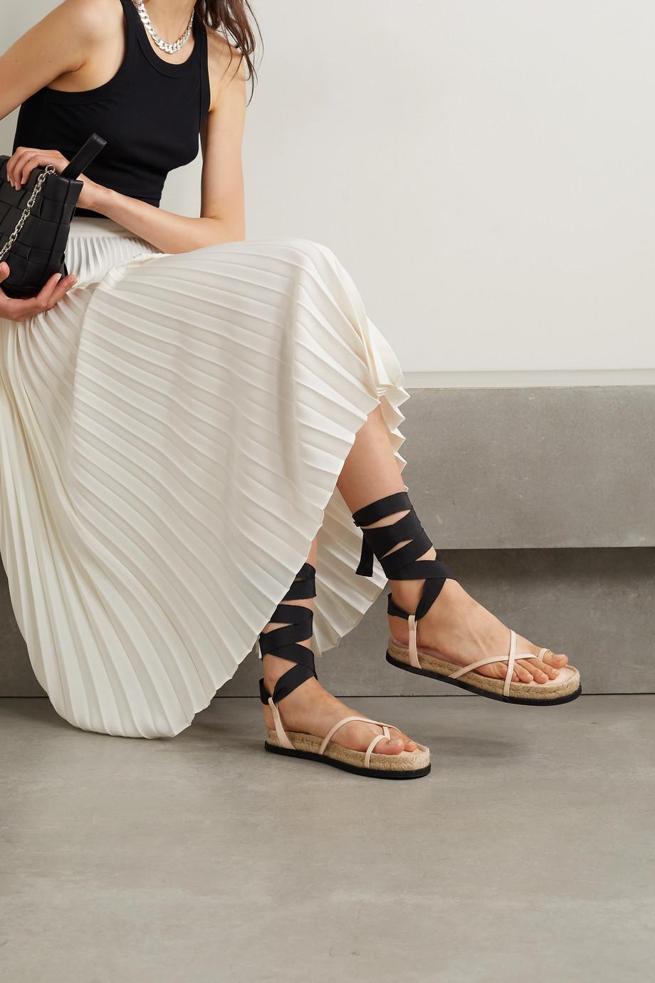 3.1 Phillip Lim Yasmine leather and grosgrain espadrille sandals