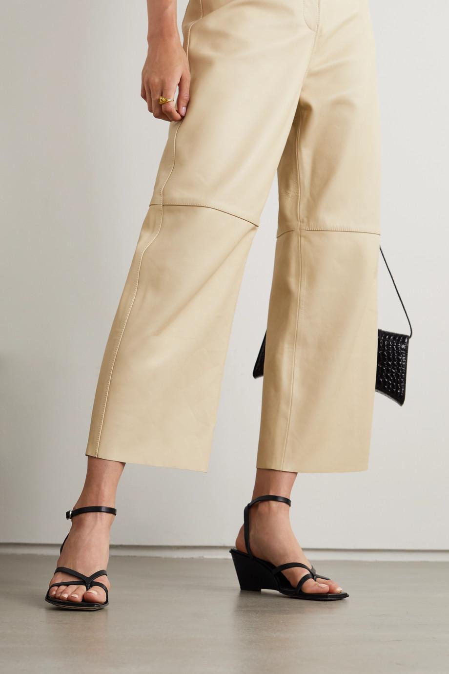 3.1 Phillip Lim Laura leather wedge sandals