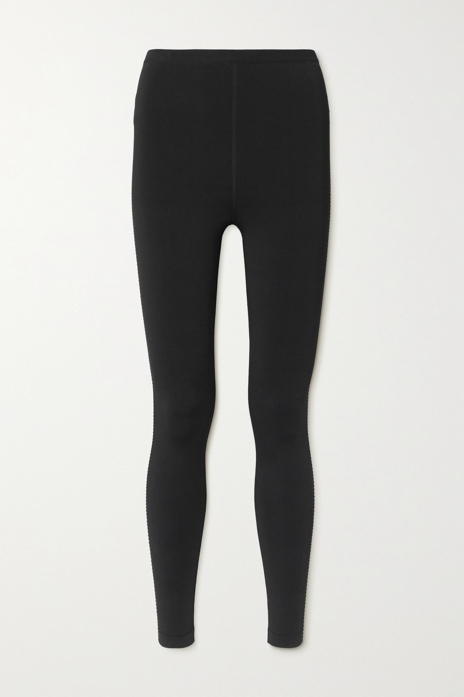 Alaïa Relax mesh-trimmed tech-jersey leggings