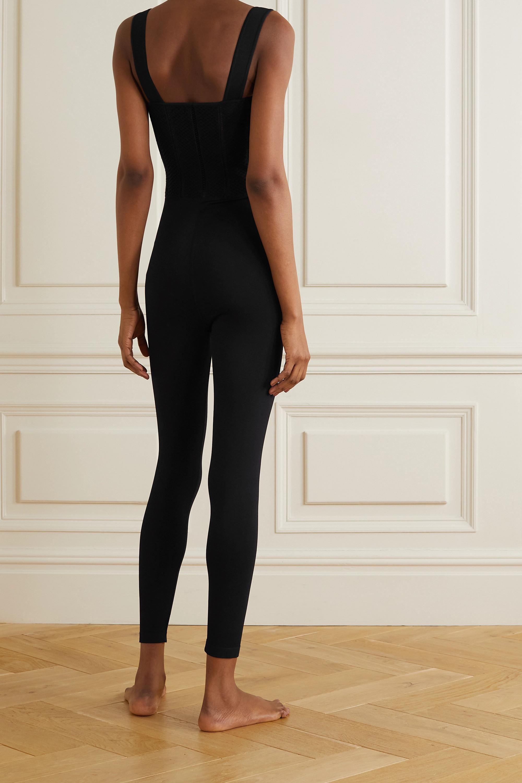 Alaïa Relax Jumpsuit aus technischem Jersey mit Mesh-Einsatz