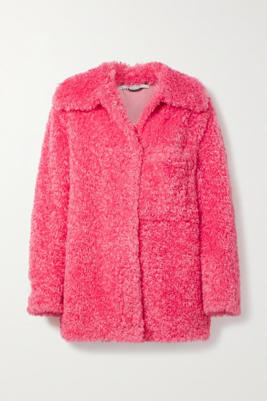 Stella McCartney Manteau en peau lainée synthétique