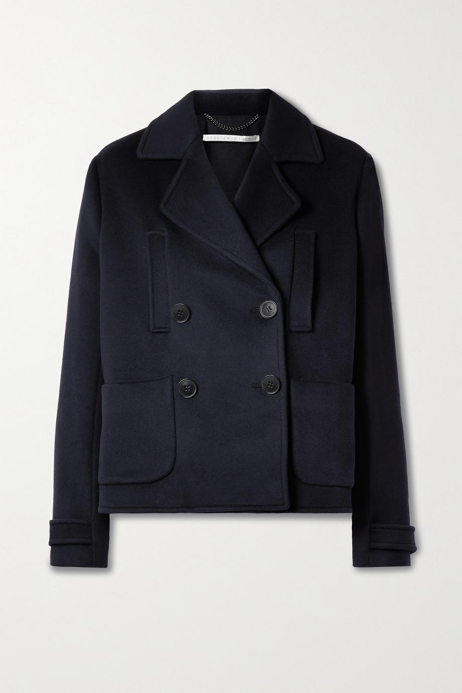 Stella McCartney Rebecca doppelreihiger Mantel aus Wolle