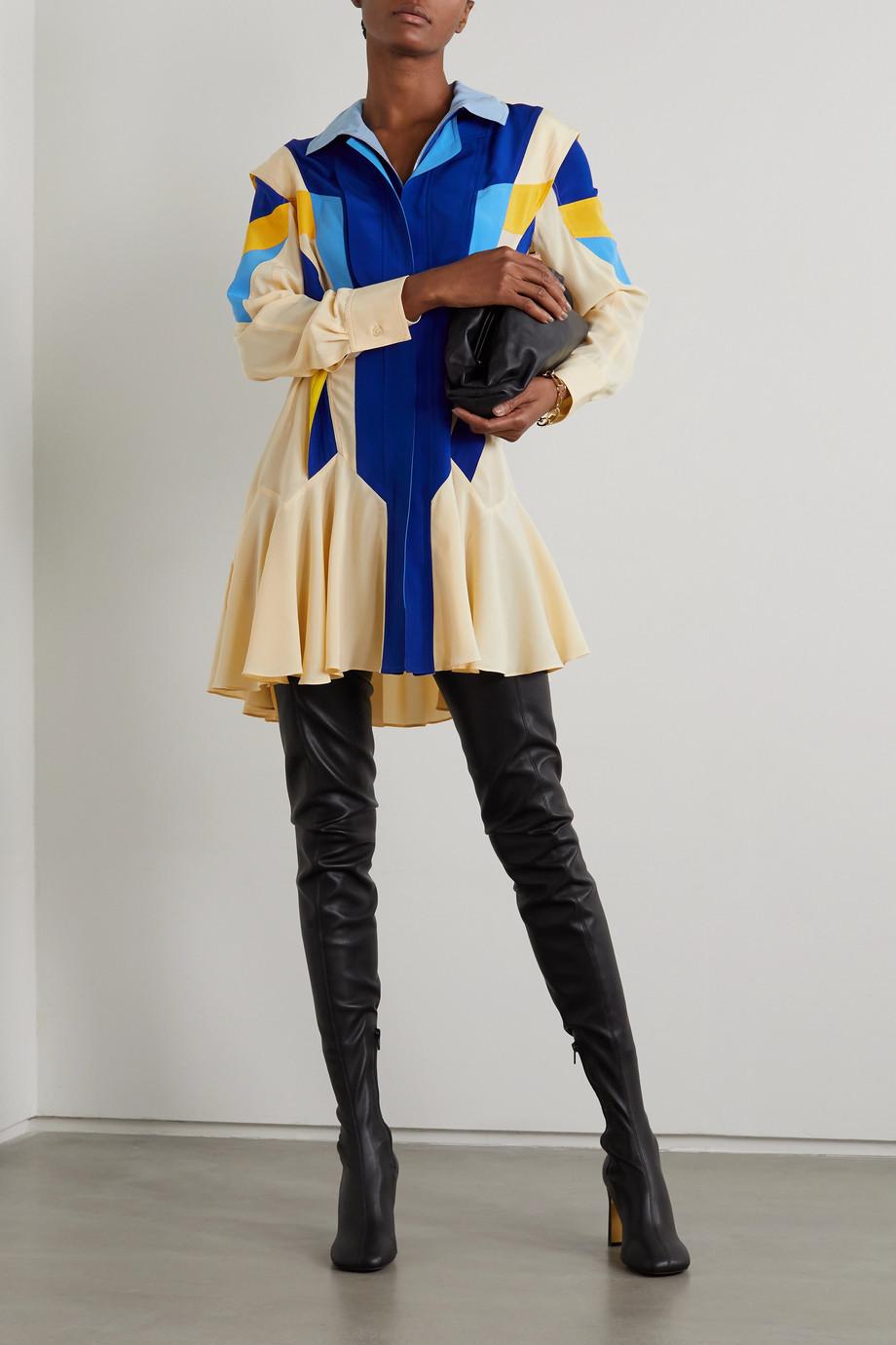Stella McCartney Monica Minikleid aus Crêpe de Chine aus Seide mit Kapuze