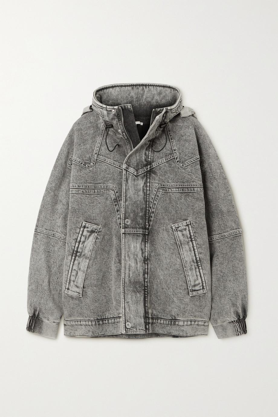 Stella McCartney + NET SUSTAIN Galaxy Jeansjacke aus Bio-Denim mit Kapuze