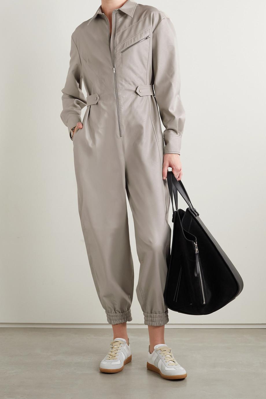Stella McCartney Combi-pantalon en cuir végétarien Mira