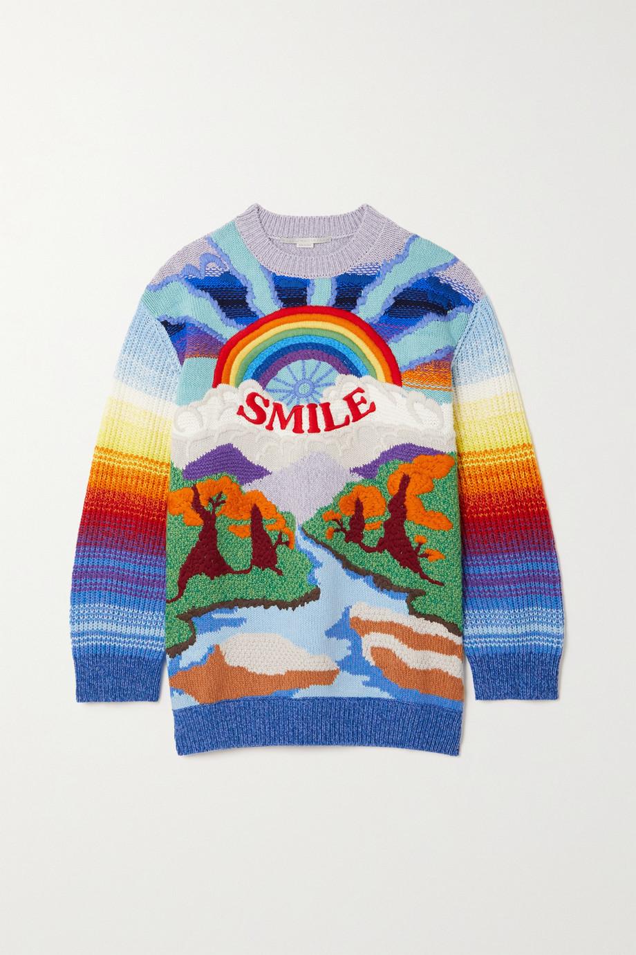 Stella McCartney Pull en laine et coton mélangés intarsia Kind