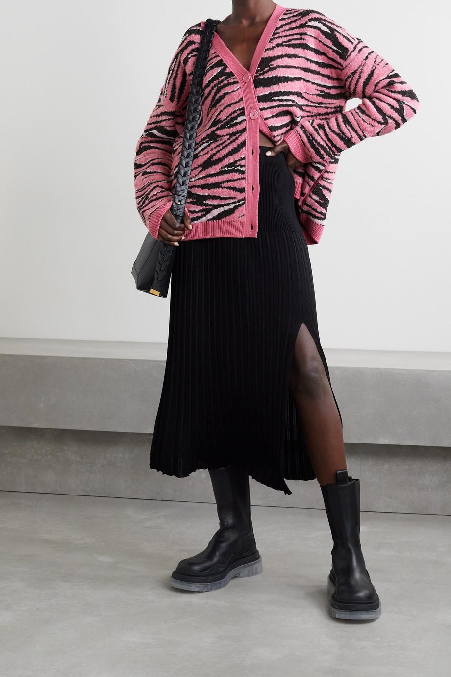 Stella McCartney Cardigan en laine recyclée mélangée jacquard - NET SUSTAIN