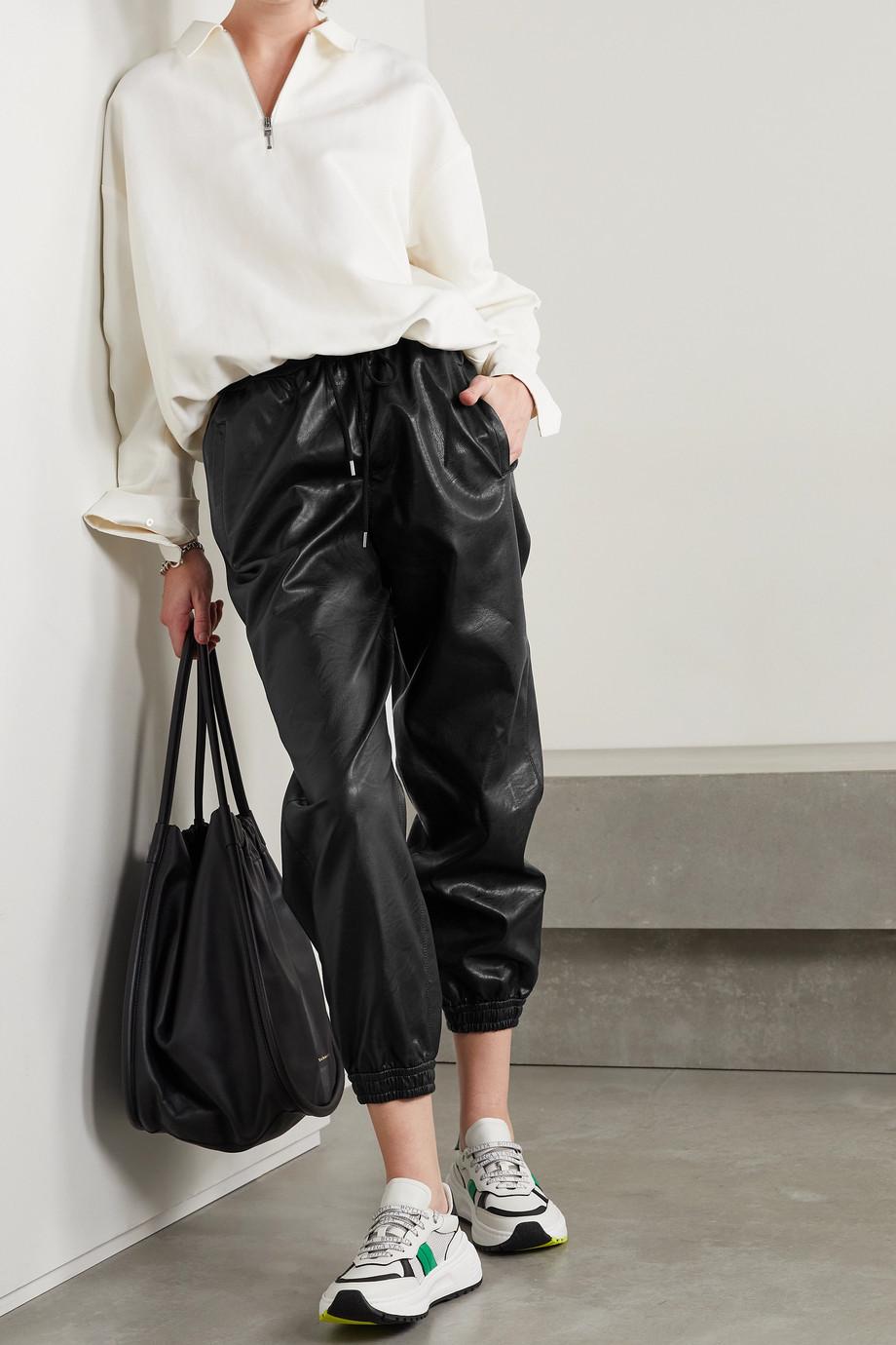 Stella McCartney Pantalon de survêtement en cuir végétarien Kira