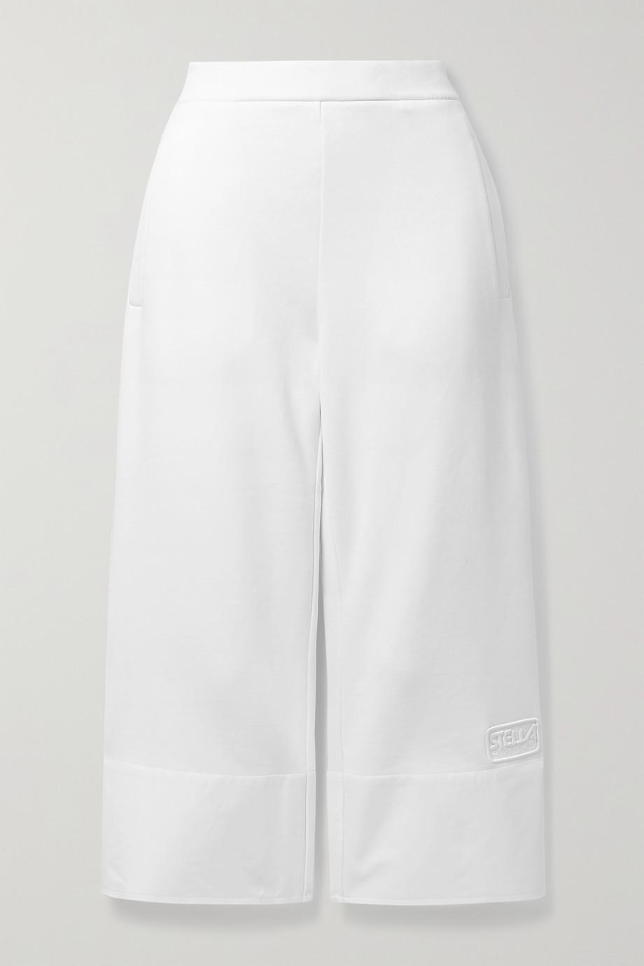 Stella McCartney Pantalon de survêtement raccourci en popeline et jersey de coton biologique - NET SUSTAIN