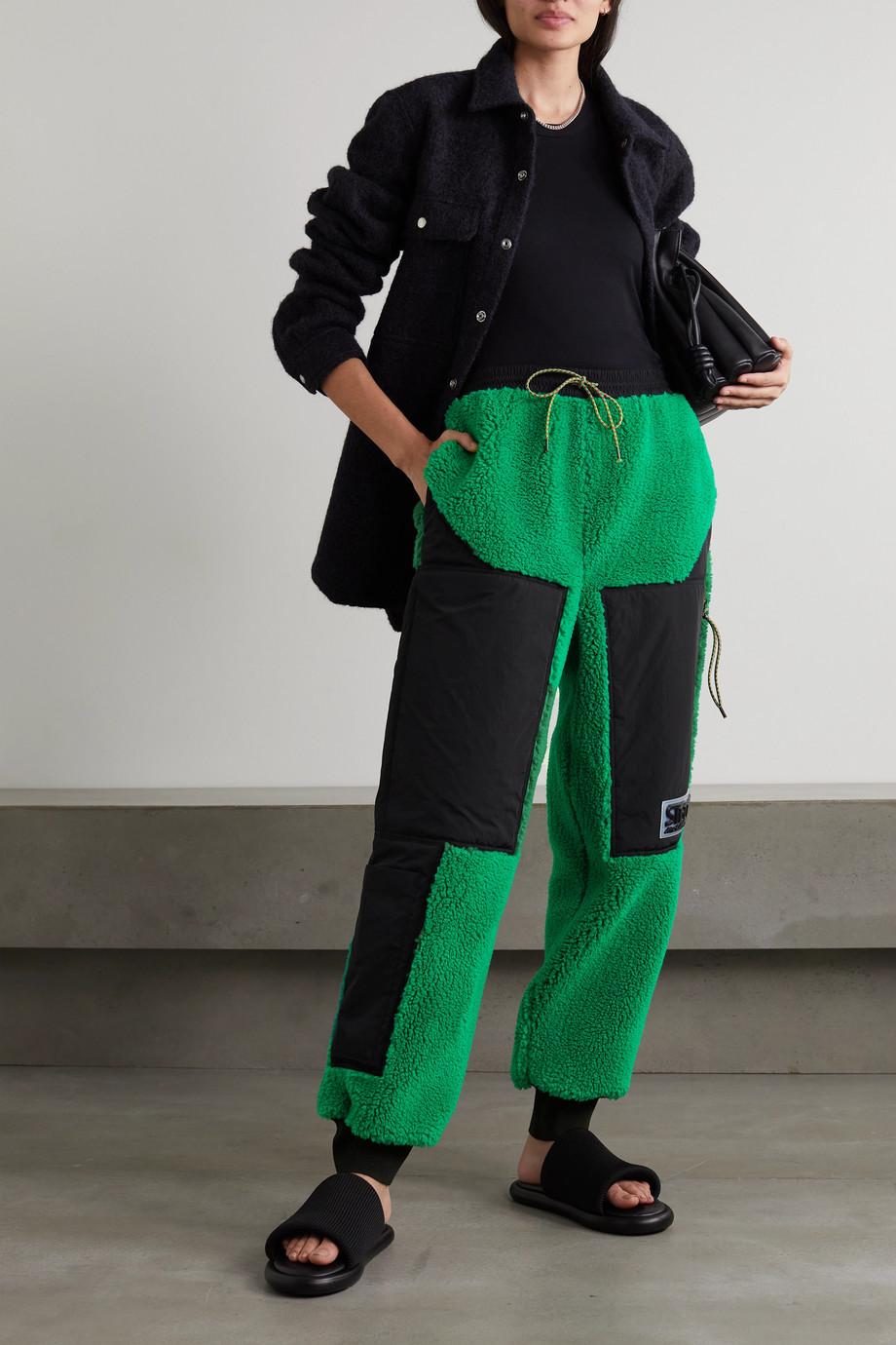 Stella McCartney + NET SUSTAIN Kara Jogginghose aus recyceltem Shearling-Imitat und Shell
