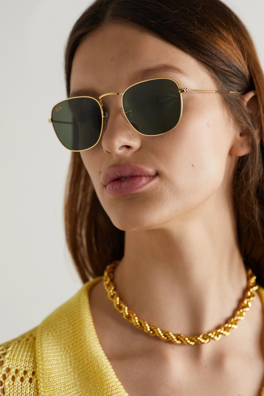 Ray-Ban Frank square-frame gold-tone sunglasses