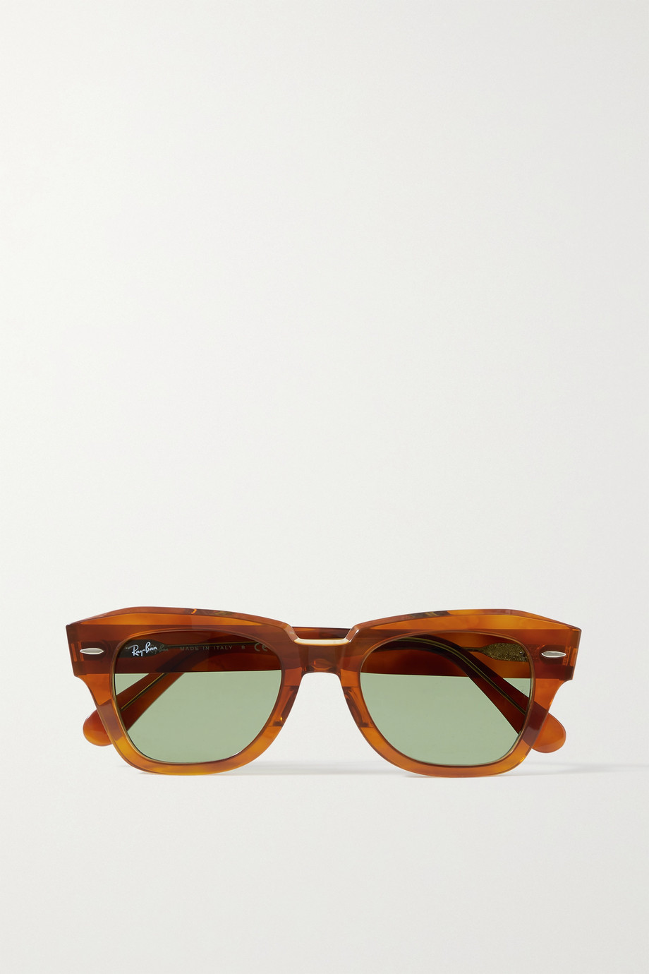 Ray-Ban State Street square-frame tortoiseshell acetate sunglasses