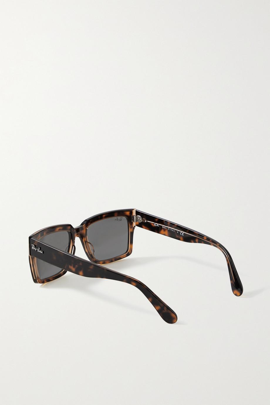 Ray-Ban Inverness rectangular-frame tortoiseshell acetate sunglasses