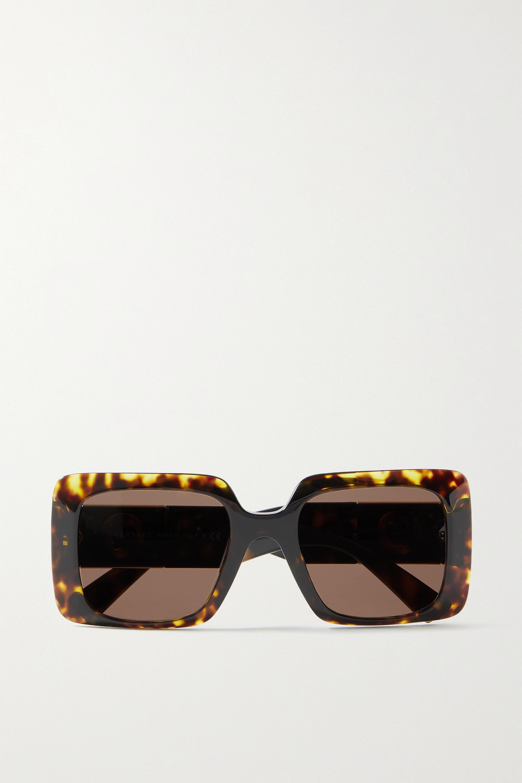 Versace Lunettes de soleil carrées oversize en acétate effet écaille