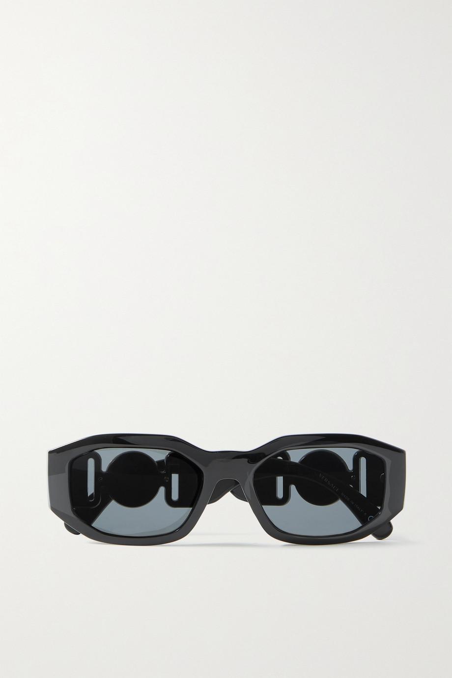 Versace Hexagon-frame acetate and gold-tone sunglasses