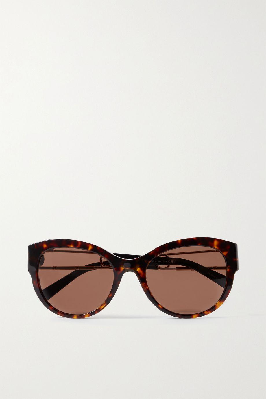 Versace Oversized square-frame tortoiseshell acetate sunglasses