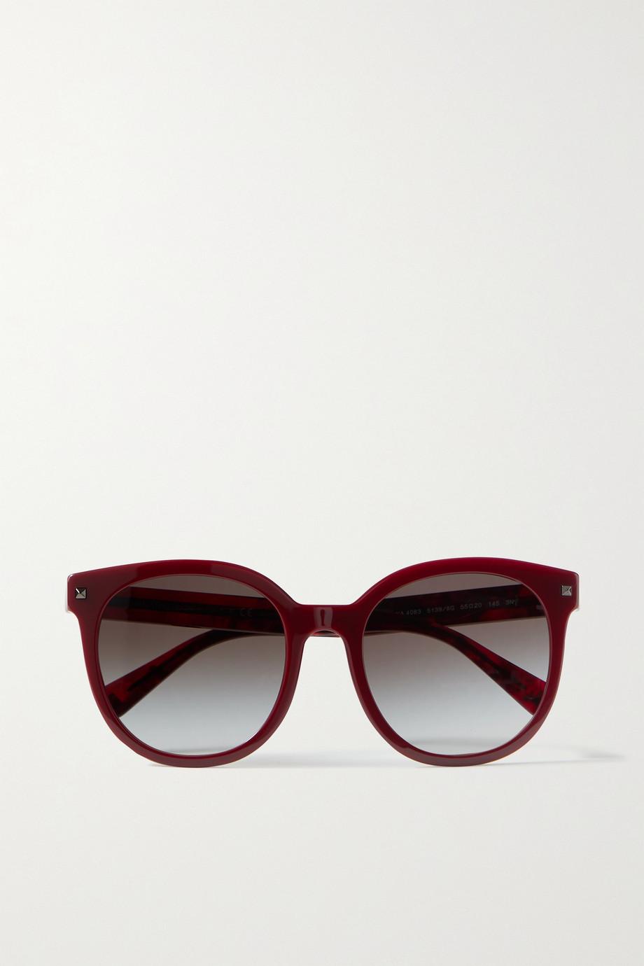 Valentino Valentino Garavani Sonnenbrille mit rundem Rahmen aus Azetat