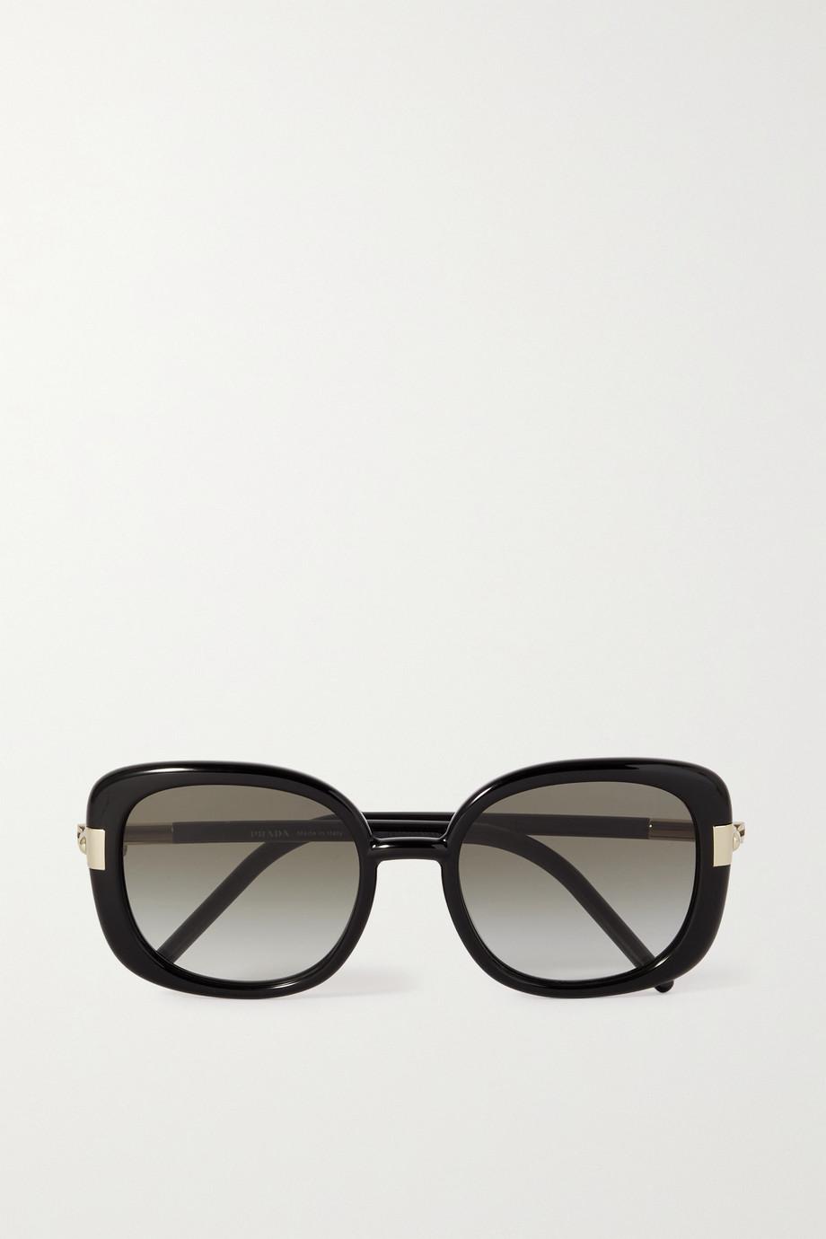 Prada Eyewear Square-frame acetate and gold-tone sunglasses