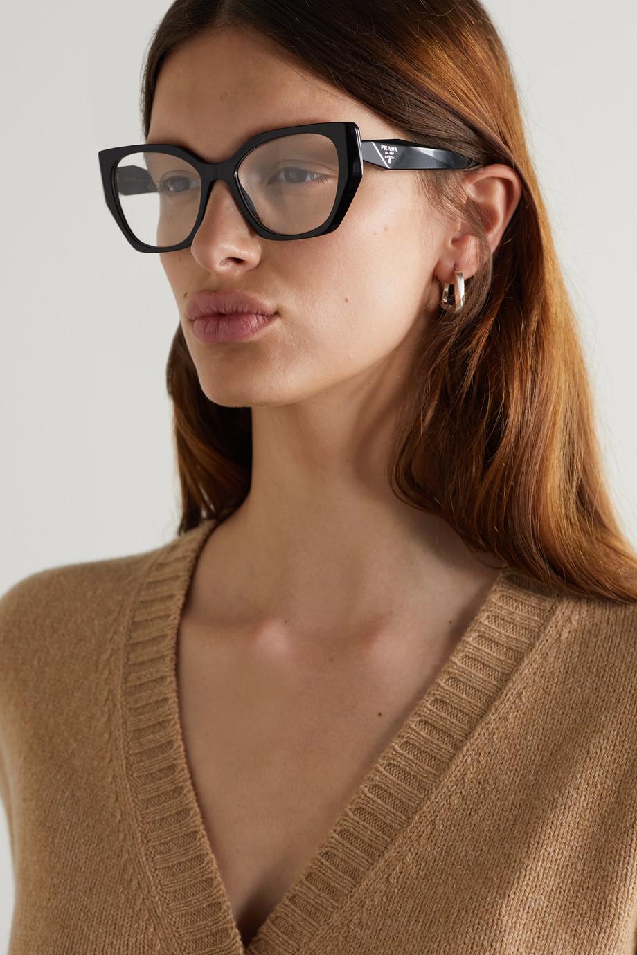 Prada Eyewear Lunettes de vue œil-de-chat en acétate
