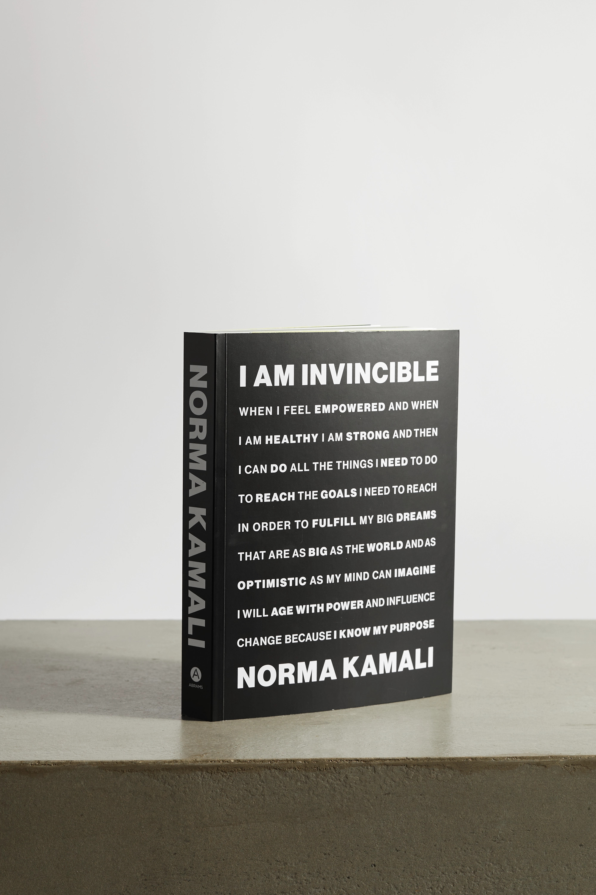 Abrams I Am Invincible by Norma Kamali paperback book