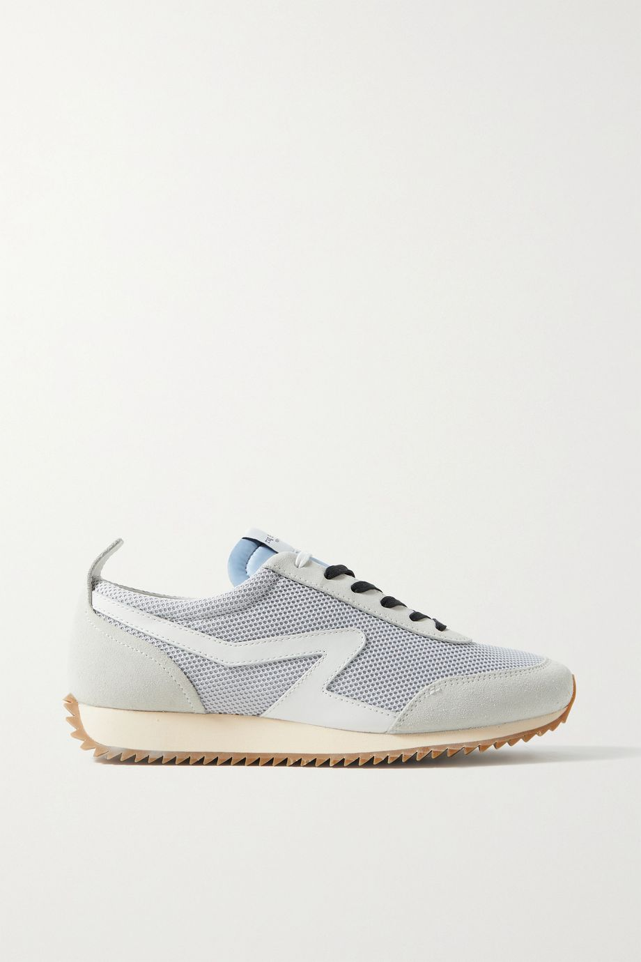 rag & bone Retro Runner suede and leather-trimmed recycled mesh sneakers