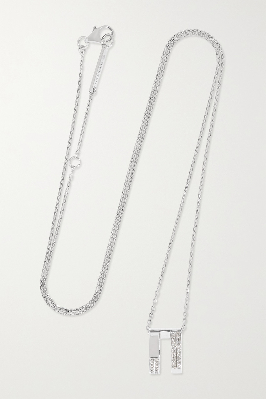 Repossi Antifer 18-karat white gold diamond necklace