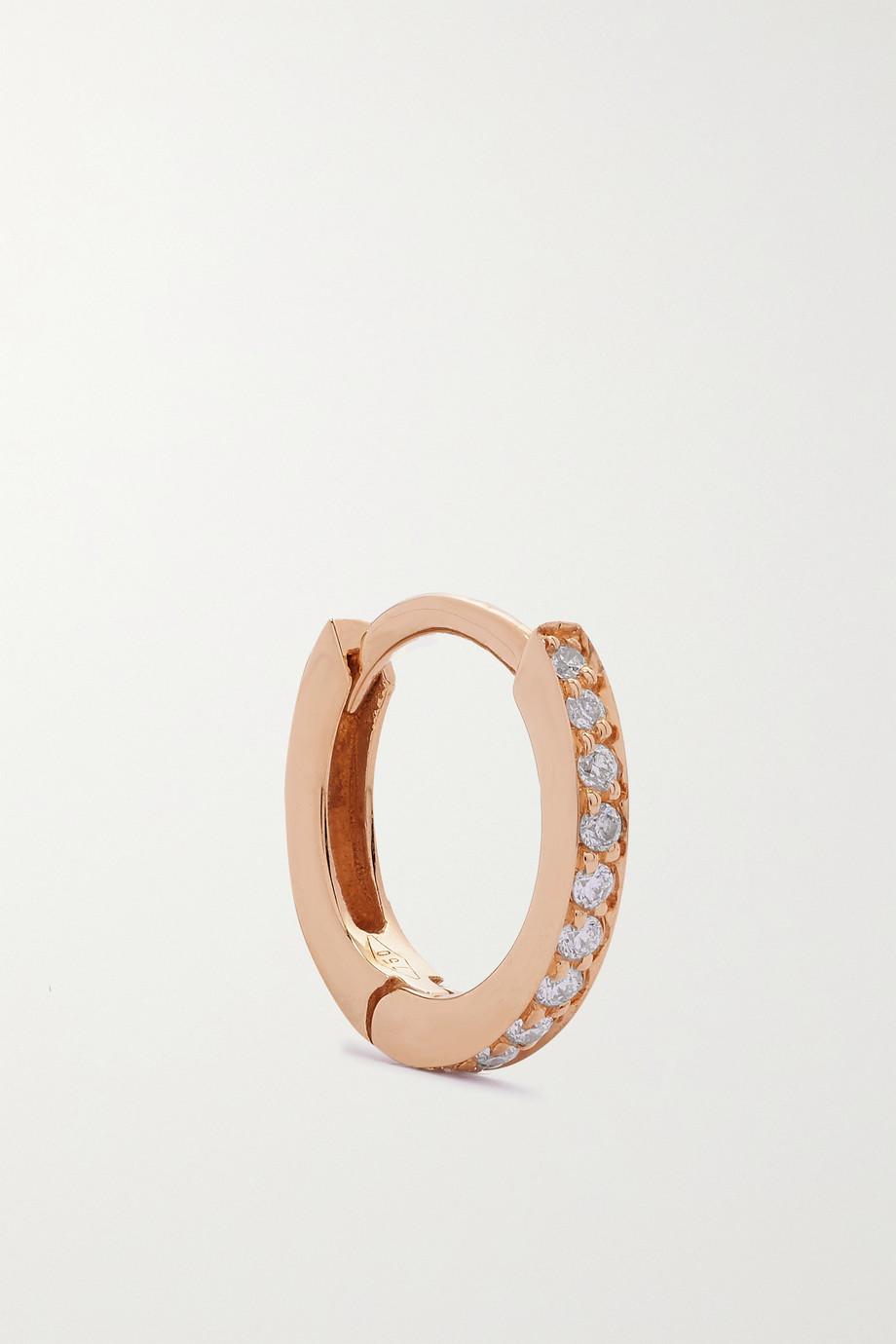Repossi Boucle d'oreille unique en or rose 18 carats et diamants Berbère