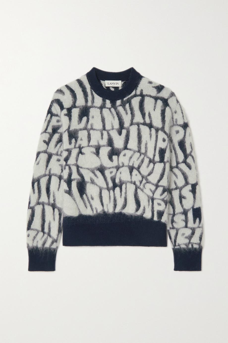 Lanvin Brushed wool-blend jacquard-knit sweater