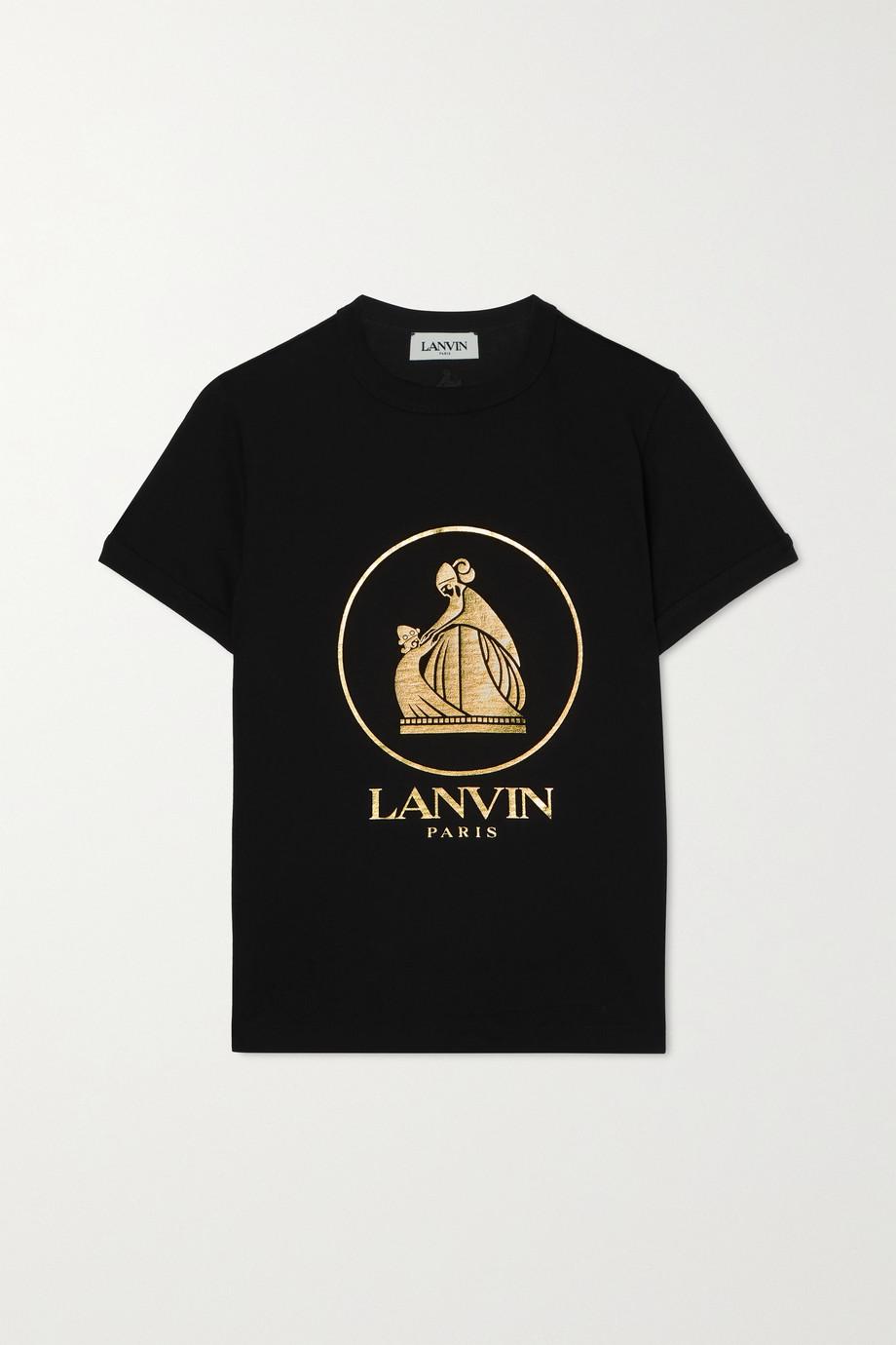 Lanvin Metallic printed cotton-jersey T-shirt