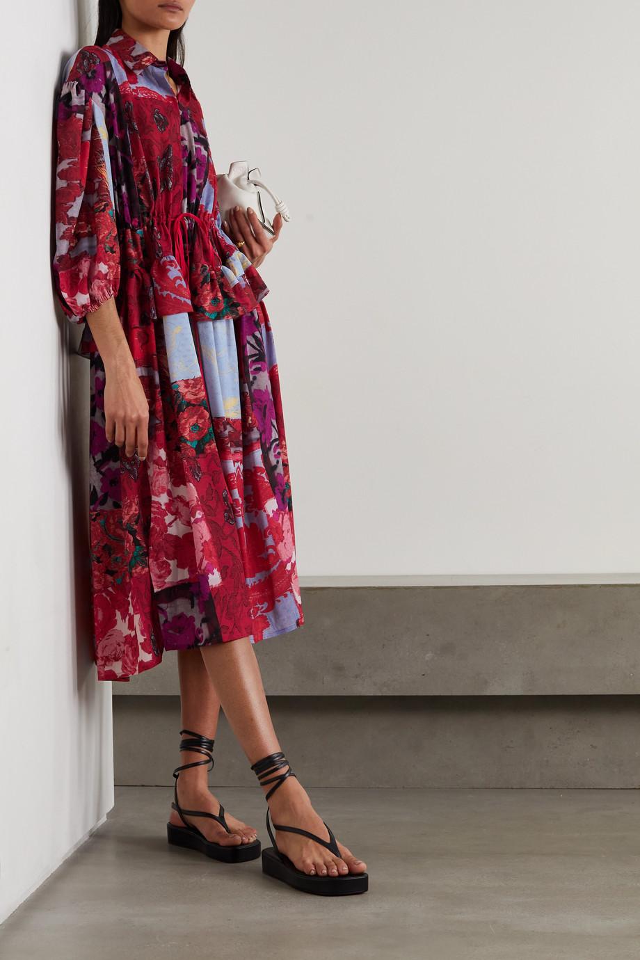 Preen by Thornton Bregazzi Dorchen patchwork floral-print recycled crepe de chine dress