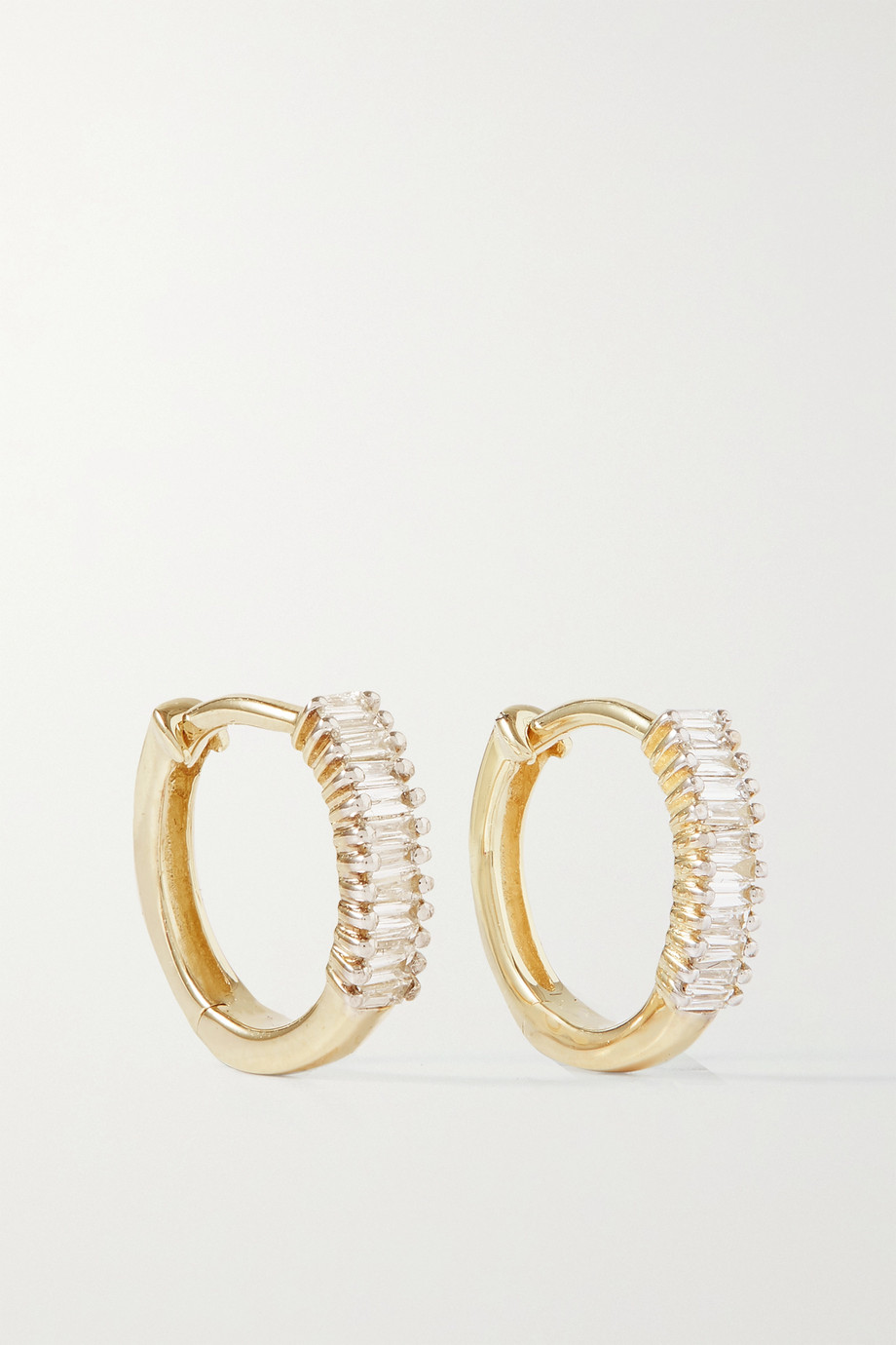 STONE AND STRAND Up and Down Creolen aus Gold mit Diamanten
