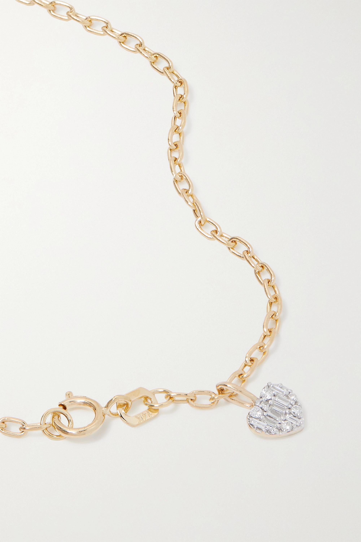 STONE AND STRAND Bracelet en or 14 carats (585/1000) et diamants Heart of the Matter