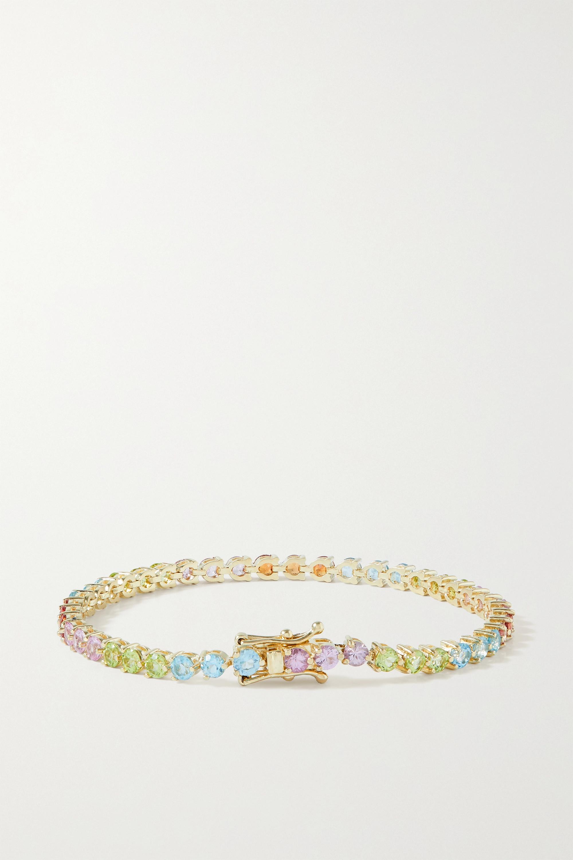 STONE AND STRAND Bracelet en or 10 carats (416/1000) et pierres multiples Rainbow Bright