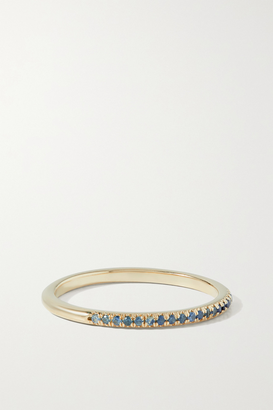 STONE AND STRAND Bague en or 14 carats (585/1000) et saphirs
