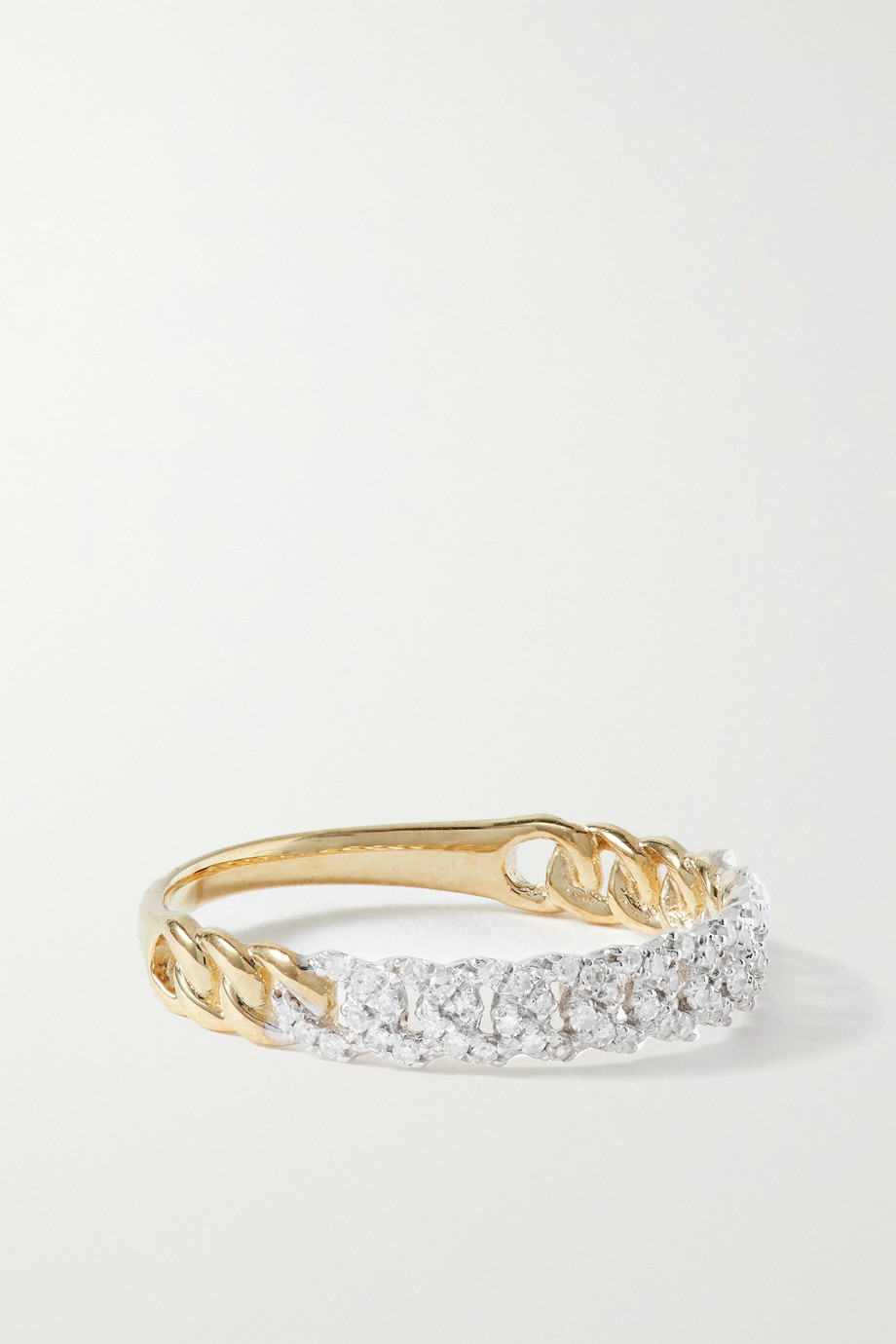 STONE AND STRAND Bague en or 10 carats (416/1000) et diamants