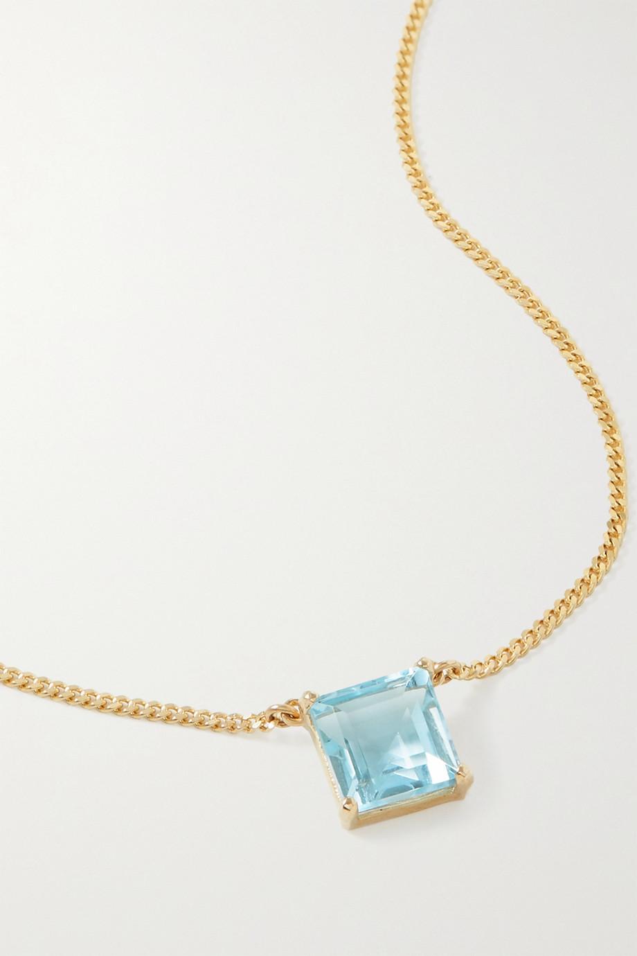 Loren Stewart Collier en or 14 carats (585/1000) et topaze Bonbon