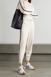 Olivia von Halle Missy Moscow striped silk-blend sweatshirt and track pants set