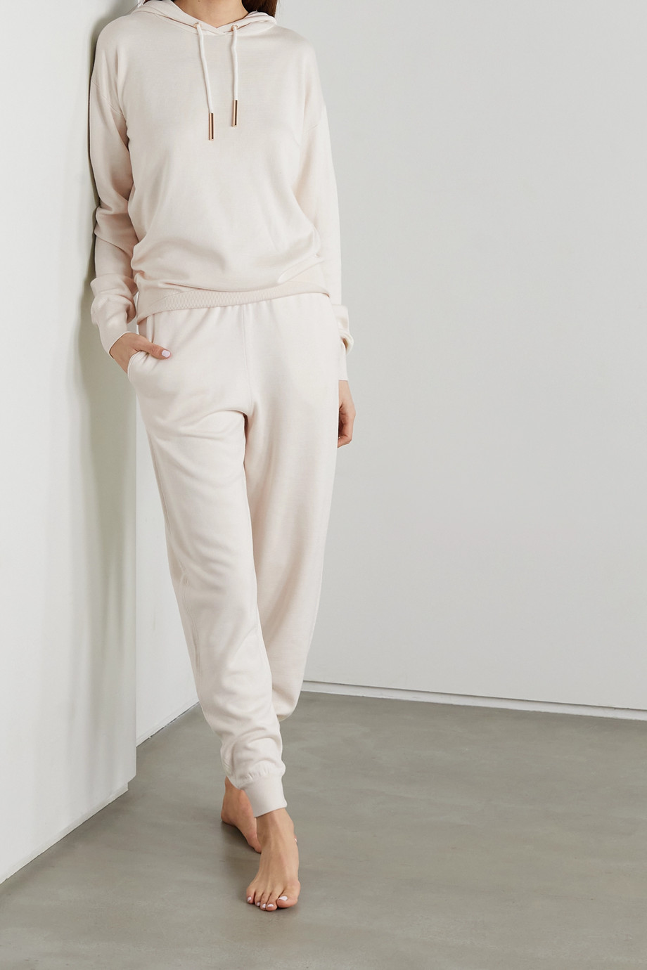 Olivia von Halle Gia Moscow silk-blend hoodie and track pants set