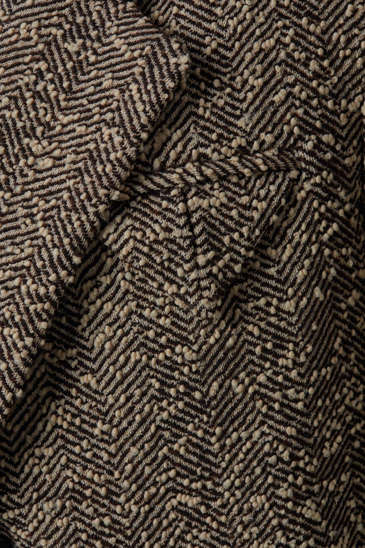 Bottega Veneta Manteau en bouclé de laine mélangée à chevrons