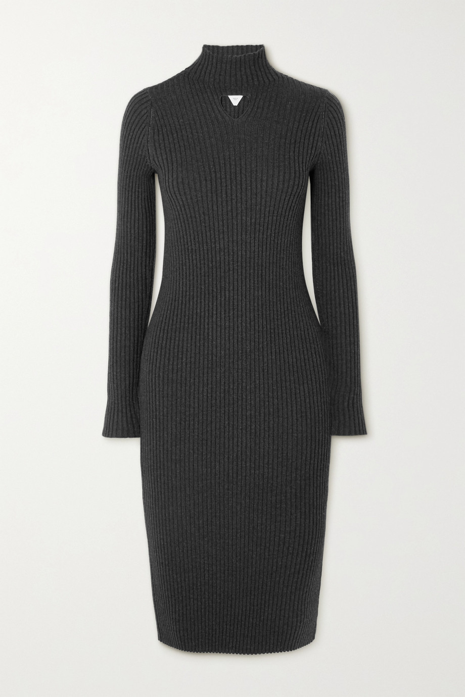 Bottega Veneta Cutout ribbed wool-blend midi dress