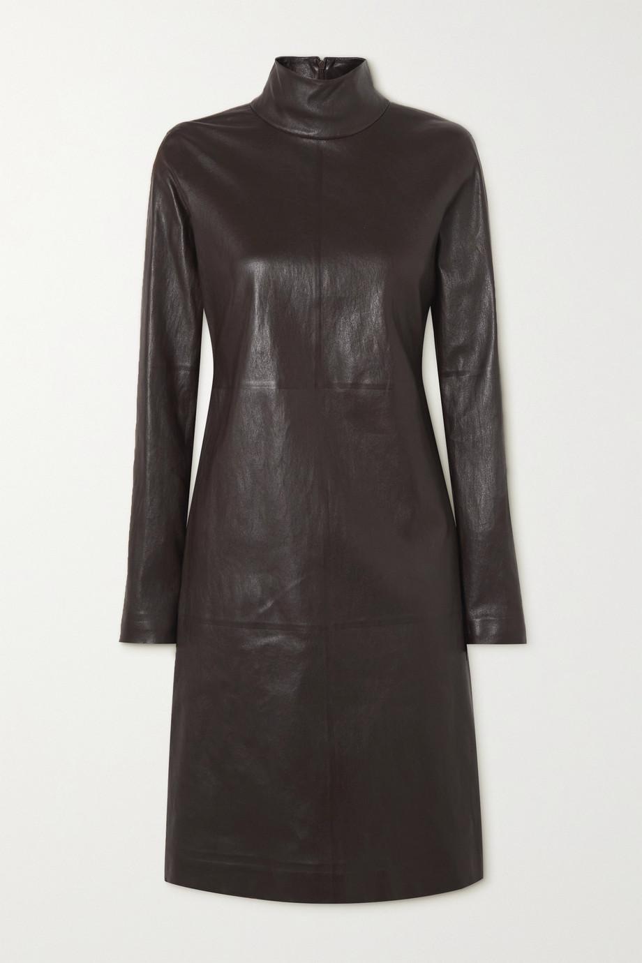 Bottega Veneta Leather turtleneck dress