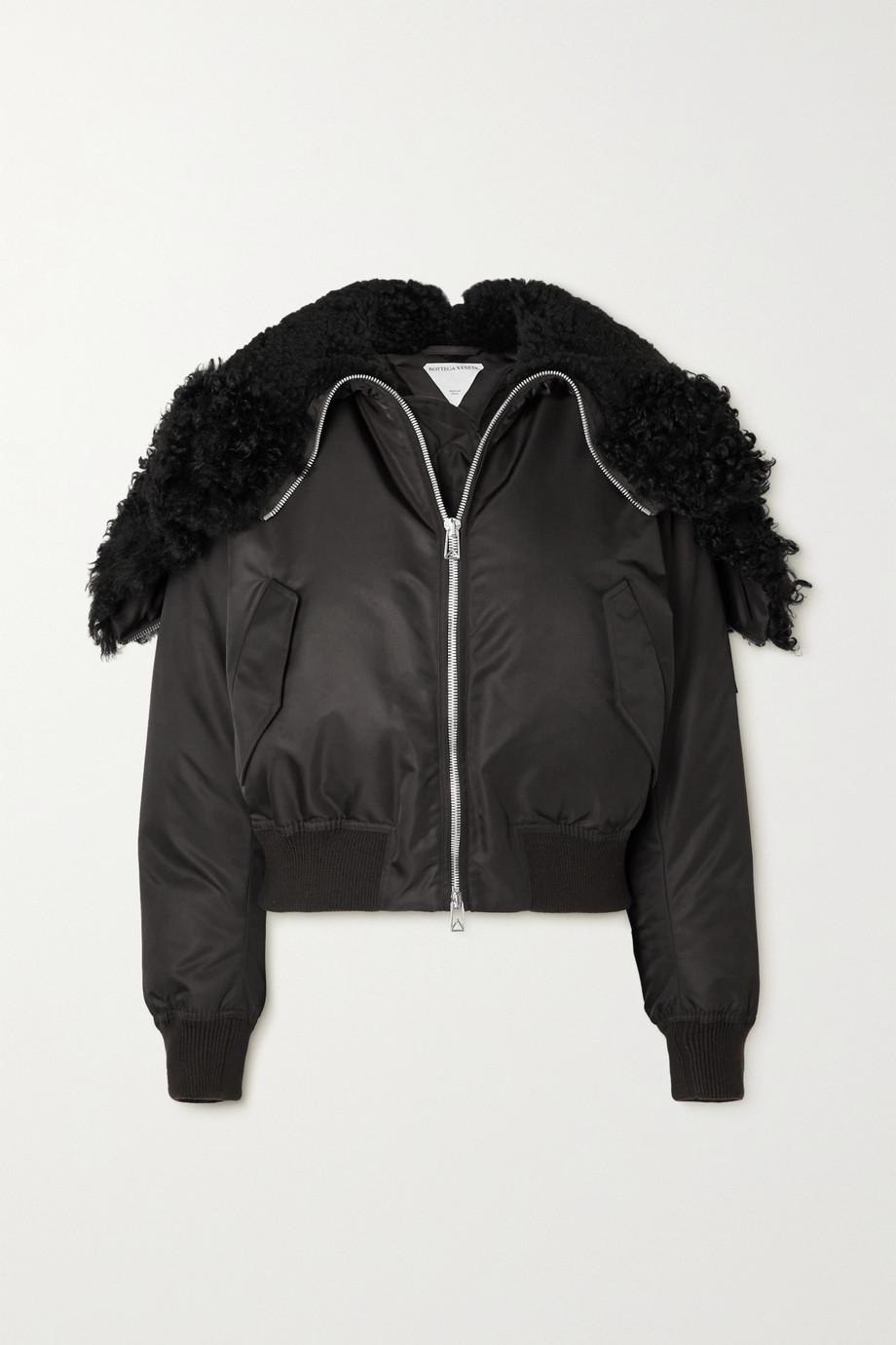 Bottega Veneta Hooded faux shearling-lined padded shell jacket