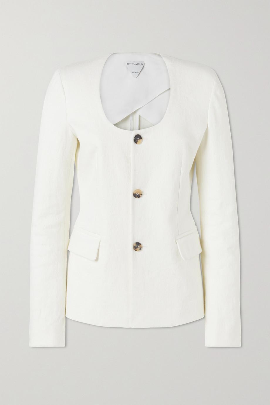 Bottega Veneta Linen-blend canvas jacket