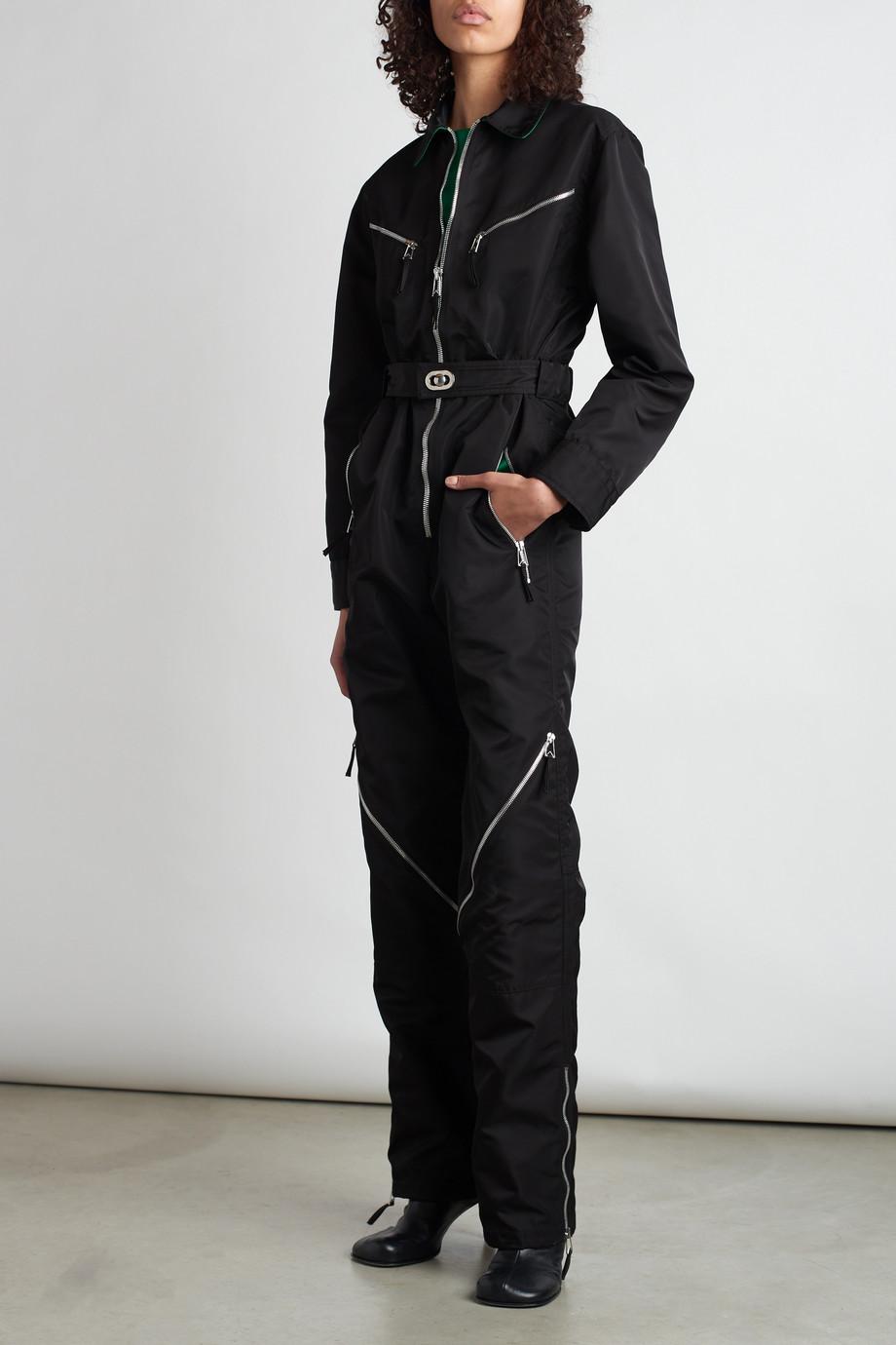 Bottega Veneta Combi-pantalon en tissu technique à fermetures à glissière