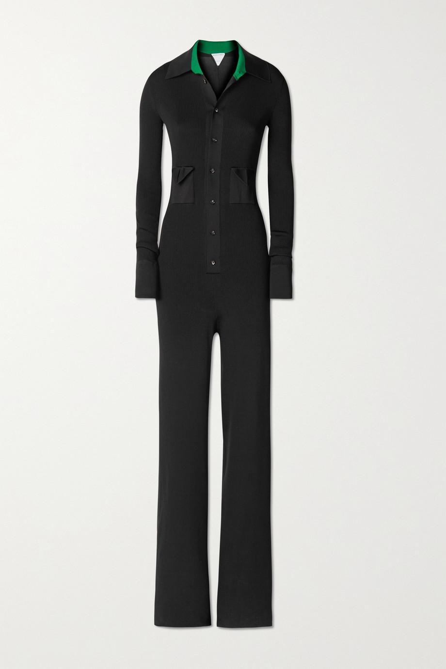 Bottega Veneta Ribbed silk-blend jumpsuit
